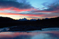 Buffalo Fork Sunset, Grand Tetons, Jackson Hole, Wyoming