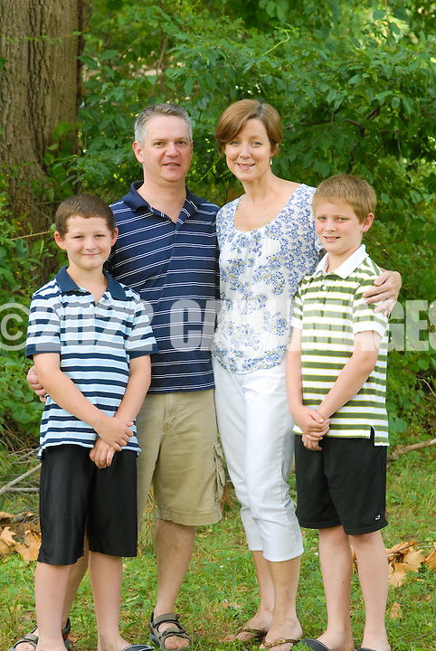 WASHINGTON CROSSING, PA - JULY 8: The Kleitz family is photographed July 8, 2012 at Washington Crossing State Park in Washington Crossing, Pennsylvania.  (Photo by William Thomas Cain/Cain Images)