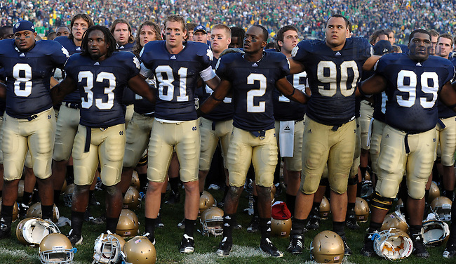 notre dame play by play football college fpotball