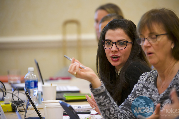 18 JAN 2017: The Division I Women's Basketball Committee meeting takes place during the 2017 NCAA Convention at the Gaylord Opryland Resort and Convention Center in Nashville, TN.  Jamie Schwaberow/NCAA Photos  (Pictured:  Kate Jackson)