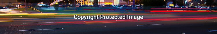 Traffic streak banner for website