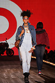 A young model walks on the runway at the Target fall preview fashion show during the Fashion & Design Festival