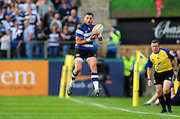 Jeff Williams of Bath Rugby claims the ball in the air. Aviva Premiership match, between Bath Rugby and Newcastle Falcons on September 10, 2016 at the Recreation Ground in Bath, England. Photo by: Patrick Khachfe / Onside Images
