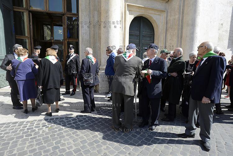 Roma, 16 Aprile 2015<br /> Partigiane e partigiani entrano in Parlamento.<br /> Celebrazione alla Camera dei deputati del 70&deg; anniversario della liberazione dal nazifascismo.
