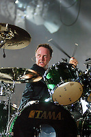 Lars Ulrich of Metallica performs at the Forum in Inglewood, CA