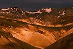 "Iceland's ""Painted Hills"" glow during a brief break in the cloud cover."