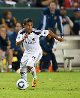 CARSON, CA – August 20, 2011: LA Galaxy forward Miguel Lopez (25) during the match between LA Galaxy and San Jose Earthquakes at the Home Depot Center in Carson, California. Final score LA Galaxy 2, San Jose Earthquakes 0.