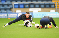 Blackpool's Myles Boney during the pre-match warm-up <br /> <br /> Photographer Kevin Barnes/CameraSport<br /> <br /> The EFL Sky Bet League Two - Wycombe Wanderers v Blackpool - Saturday 11th March 2017 - Adams Park - Wycombe<br /> <br /> World Copyright &copy; 2017 CameraSport. All rights reserved. 43 Linden Ave. Countesthorpe. Leicester. England. LE8 5PG - Tel: +44 (0) 116 277 4147 - admin@camerasport.com - www.camerasport.com