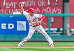 30 August 2015: Washington Nationals second baseman Danny Espinosa in action against the Miami Marlins at Nationals Park in Washington, DC. The Nationals rallied to defeat the Marlins 7-4 in the third game of their 3-game weekend series. Mandatory Credit: Ed Wolfstein Photo *** RAW (NEF) Image File Available ***