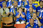 St Johnstone v Eskisehirspor....18.07.12  Uefa Cup Qualifyer.Disappointed saints fans.A gutted Liam Craig leaves the field.Picture by Graeme Hart..Copyright Perthshire Picture Agency.Tel: 01738 623350  Mobile: 07990 594431