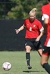 04 October 2009: Maryland's Brittany Cummins. The University of Maryland Terrapins defeated the Duke University Blue Devils 4-0 at Koskinen Stadium in Durham, North Carolina in an NCAA Division I Women's college soccer game.