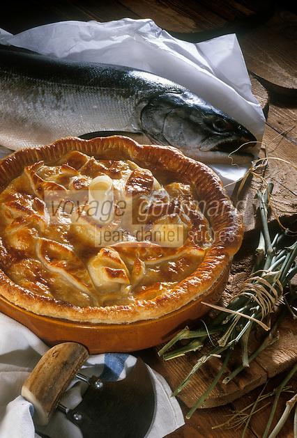 USA/Etats-Unis/Alaska: Pie de saumon d'Alaska à la russe