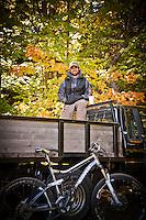 Aaron Rogers lead mountain bike trail builder in Copper Harbor Michigan Michigan's Upper Peninsula.