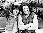 AC/DC 1983 Simon Wright and Brian Johnson.&copy; Chris Walter.
