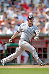17 June 2006: Jason Giambi, first baseman for the New York Yankees, in action against the Washington Nationals at RFK Stadium, in Washington, DC. The Nationals overcame a seven run deficit to win 11-9 in the second game of the interleague series...Mandatory Photo Credit: Ed Wolfstein Photo...