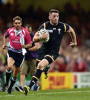 Alex Cuthbert of Wales in possession. Rugby World Cup Pool A match between Wales and Fiji on October 1, 2015 at the Millennium Stadium in Cardiff, Wales. Photo by: Patrick Khachfe / Onside Images