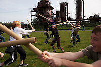 Cardboard Tube Fighting League. Seattle, Washington.