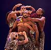 Boy Blue Entertainment <br /> Blak Whyte Gray <br /> at The Barbican Theatre, London, Great Britain <br /> press photocall / rehearsal <br /> 11th January 2016 <br /> <br /> <br /> Blak <br /> Theo Godson Oloyade <br /> Natasha Gooden <br /> Dan-I Harris-Walters <br /> Nicole McDowall <br /> Idney De' Almeida <br /> Ricardo Da Silva <br /> Gemma Kay Hoddy <br /> Dickson Mbi <br /> <br /> <br /> <br /> Photograph by Elliott Franks <br /> Image licensed to Elliott Franks Photography Services