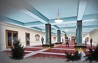 1996 December ..Rehabilitation..Attucks Theatre...RENDERING.NEW LOBBY...NEG#.NRHA#..