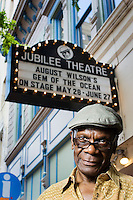 Ed Smith, artistic director of Fort Worth's Jubilee Theater outside the theater on June 17, 2010.