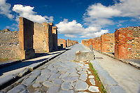 Street of Pompeii archaeological site.