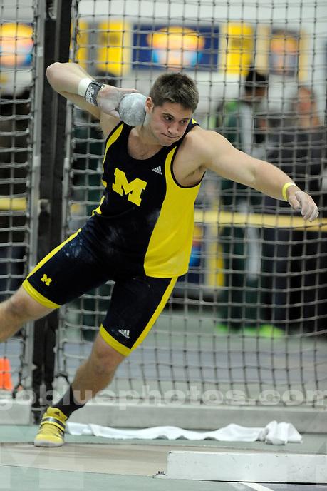 University of Michigan Men's Track, Simmons-Harvey Invitational at UM Indoor Track Building, Saturday, January 18, 2014.