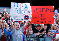 22 MAY 2010:  Young fans during the International Friendly soccer match between Germany WNT vs USA WNT at Cleveland Browns Stadium in Cleveland, Ohio. USA defeated Germany 4-0 on May 22, 2010.