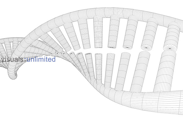 A strand of DNA. Royalty Free