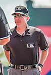 21 March 2015: MLB Umpire Lance Barksdale is ready to start a Spring Training game between the Washington Nationals and the Atlanta Braves at Champion Stadium at the ESPN Wide World of Sports Complex in Kissimmee, Florida. The Braves defeated the Nationals 5-2 in Grapefruit League play. Mandatory Credit: Ed Wolfstein Photo *** RAW (NEF) Image File Available ***