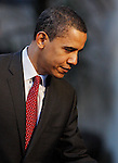 2008 Democratic US Presidential Candidate Barack Obama speaks about veterans affairs to an audience at the American GI Forum residence for veterans, March 3, 2008, in San Antonio, Texas. (Darren Abate/PressPhotoIntl.com)