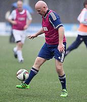 Fussball International 29.02.2016 FIFA Praesident Gianni Infantino (Schweiz) am Ball, erster Tag im Home of Fifa