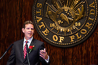TALLAHASSEE, FLA. 11/18/14-ORGSESS111814CH-Senate President Andy Gardiner, R-Orlando, speaks during Organizational Session, Nov. 18, 2014 at the Capitol in Tallahassee.<br /> <br /> COLIN HACKLEY PHOTO
