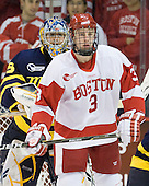 Joe Cannata (Merrimack - 35), Charlie Coyle (BU - 3) - The visiting Merrimack College Warriors tied the Boston University Terriers 1-1 on Friday, November 12, 2010, at Agganis Arena in Boston, Massachusetts.