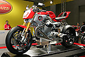 Mar 26, 2010 - Tokyo, Japan - A Moto Guzzi V12 LM is on display during the 37th Tokyo Motorcycle Show at Tokyo Big Sight on March 26, 2010. The event is the Japan's largest motorcycle exhibition and it will be held until March 28 this year. (Photo Laurent Benchana/Nippon News)