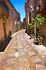 Narrow lanes of &Eacute;rice, Erice, Sicily stock photos.