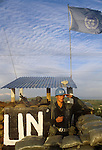 Irish UN, United Nations troops southern Lebanon 1980s.  They were part of United Nations Interim Force in Lebanon, or UNIFIL.