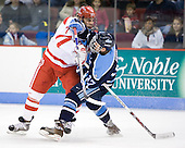 Brian Strait (BU - 7), Christopher Hahn (Maine - 37) - The Boston University Terriers defeated the University of Maine Black Bears 1-0 (OT) on Saturday, February 16, 2008 at Agganis Arena in Boston, Massachusetts.