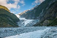 Terminus of Franz Josef Glacier and Waiho River, Westland Tai Poutini National Park, West Coast, World Heritage Area, New Zealand