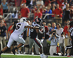 Ole Miss' Devin Thomas (29) runs against Southern Illinois at Vaught-Hemingway Stadium in Oxford, Miss. on Saturday, September 10, 2011.