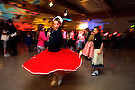 Chynna Milner and friends dance the night away recently at a sock hop for family and friends at Woodmere Elementary School.