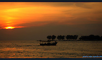 sunset in thousands island, jakarta, indonesia