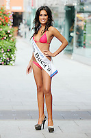 17/9/2010. Miss Ireland contestants. Miss Bucks Nasreen Ghaedi is pictured at St Stephens Green. the 35 Miss Ireland contestants officially unveiled in their swimwear and sashes for the 1st time at Stephen's Green Shopping Centre,  Dublin. Picture James Horan/Collins Photos