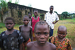 Ijaw family  in the Delta region of Nigeria.  .The ijaw communities claim Shell has damaged their fishing grounds and  have failed to put any  revenues  from their  huge oil income back into the area wher eit was extracted..