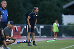 22 September 2016: Notre Dame assistant coach Dawn Siergiej. The North Carolina State University Wolfpack hosted the University of Notre Dame Fighting Irish at Dail Soccer Field in Raleigh, North Carolina in a 2016 NCAA Division I Women's Soccer match. Notre Dame won the game 1-0.