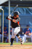 Miami Marlins Luis Pintor (2) during an Instructional League game against the New York Mets on September 29, 2016 at the Port St. Lucie Training Complex in Port St. Lucie, Florida.  (Mike Janes/Four Seam Images)