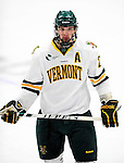 9 January 2011: University of Vermont Catamount forward Jack Downing, a Senior from New Canaan, CT, in action against the Boston University Terriers at Gutterson Fieldhouse in Burlington, Vermont. The Catamounts fell to the Terriers 4-2 in Hockey East play. Mandatory Credit: Ed Wolfstein Photo