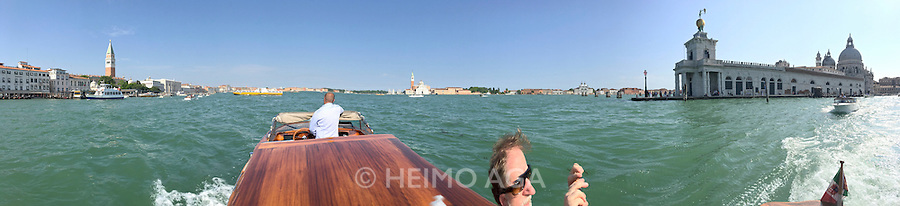 Venice, Italy - 15th Architecture Biennale 2016, &quot;Reporting from the Front&quot;.<br /> Aboard a water taxi.