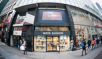 Hour Passion watch store in New York on Sunday, December 14, 2014. A recent study on conspicuous consumption reported that New Yorkers spend 597 percent more on watches than the rest of the country. (© Richard B. Levine)