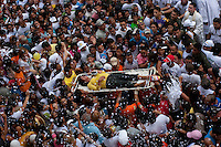 Pilgrim is transported on a stretcher to hospital - on the second Sunday in October, Para State celebrates the largest and greatest religious event in Brazil - The Cirio of Nazare, a long procession of faith, in which thousands of people follow the saint through the streets of Belem, in a manifestation that lasts around five hours for unity, emotion and devotion, with no distinction of social classes, to express the strongest devotion to the belief.