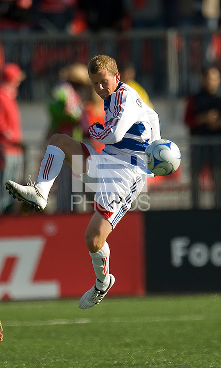 11 April 2009:  FC Dallas defender Michael Dello-Russo #2 shows us his ball skill in during an MLS game at BMO Field in Toronto between FC Dallas and Toronto FC. The game ended in a 1-1 draw.